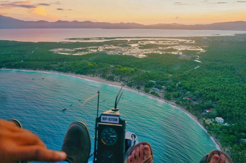 A Bird's Eye View Flying Flying High Flying In The Sky Overlooking Overlooking The Sea Sea And Sky Beach Beach Photography Seascape Sea Sunset Sunset And Clouds  Davao Escape Philippines