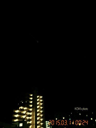 マンション上空、明るい星 (iPhone camera ぢゃ、限界かっ) Night Nightphotography