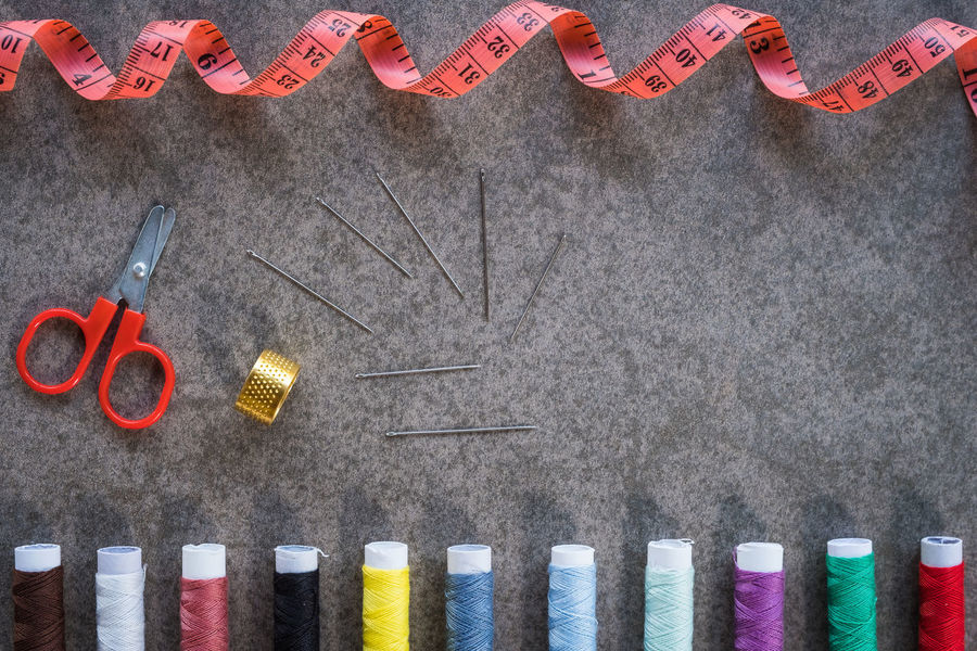 Sewing on background Fashion Machine Makeup Manufacturing Needle Needlework Process Sewing Sewing Machine