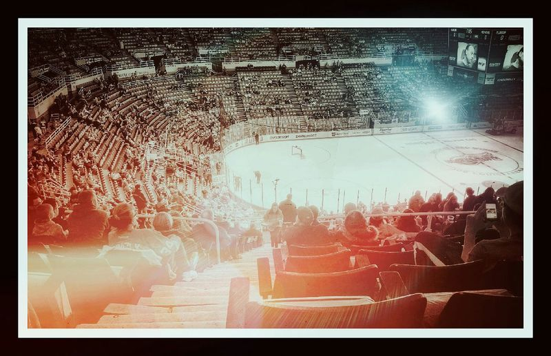 Detroit Red Wings Game!! Check This Out This Week On Eyeem Hdr_Collection Vintage Style Lightpainting Taking Photos Enjoying Life NHL Hockey! Joe Louis Arena