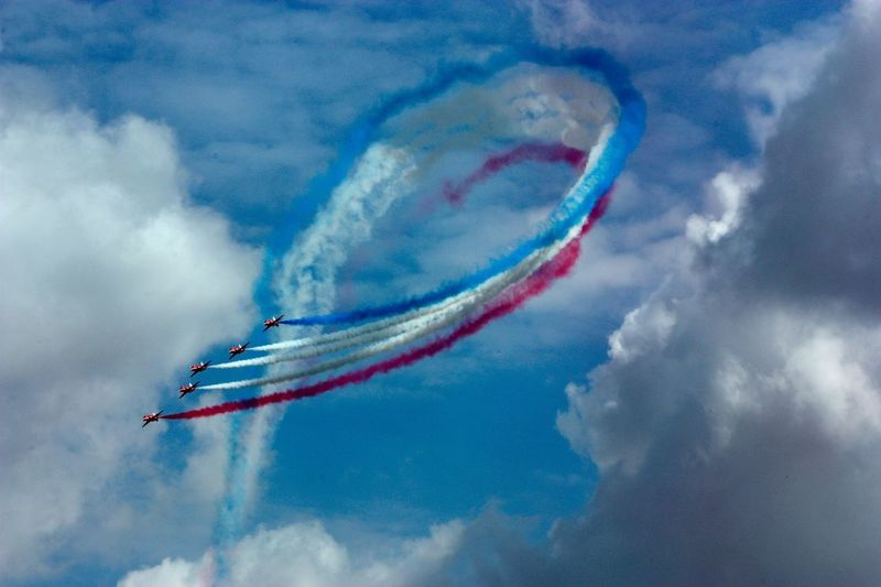 Fighter planes during airshow