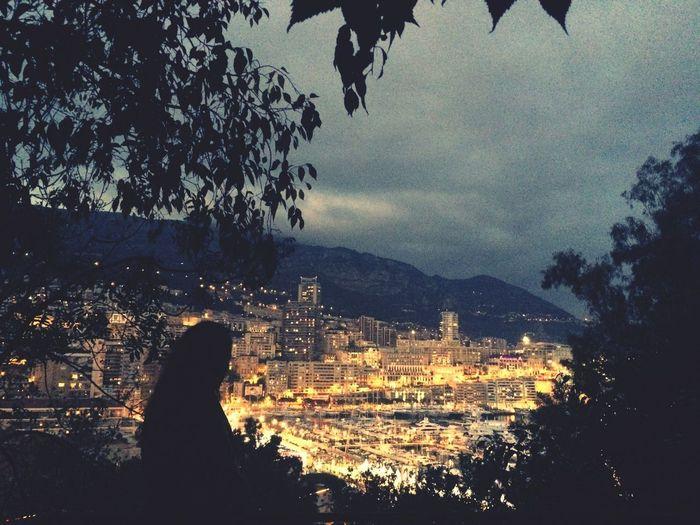 Monaco Monte Carlo Monaco Nightout Lights Beautiful City View Landscape