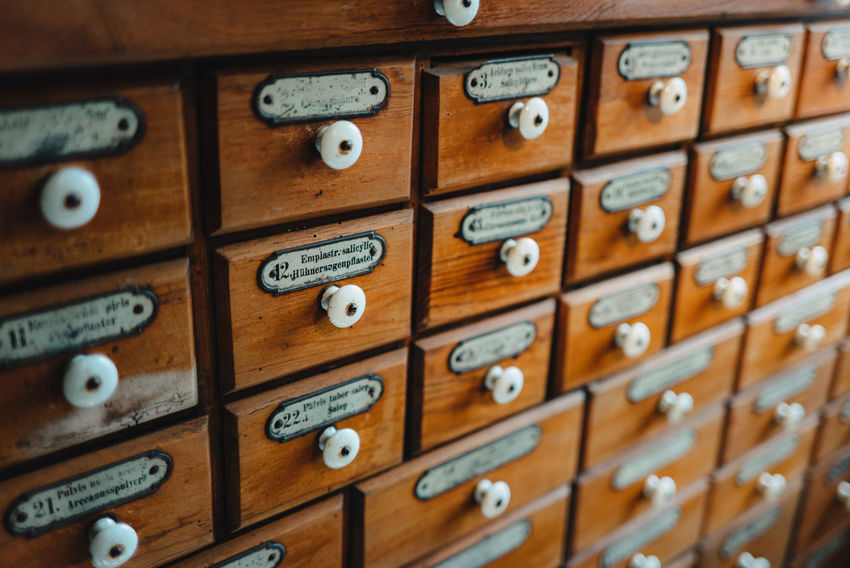 Inside Castle Backgrounds Brown Close-up Communication Drawer Full Frame In A Row Indoors  Large Group Of Objects Letter Museum No People Number Old Order Repetition Safety Selective Focus Technology Text Wood - Material