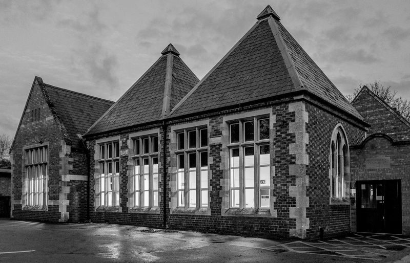 Hardingstone Primary School, High Street, Hardingstone Architecture Black And White Northamptonshire Fujifilm X100T Hardingstone Village Monochrome School Schools
