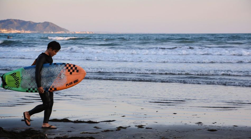 Sea Beach One Person Wave Horizon Over Water Sand Water Nature Sunset Surfer Surfing Surfingphotography Kamakura The Secret Spaces Resist