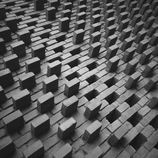 Backgrounds Pattern Full Frame Large Group Of Objects No People In A Row Indoors  Day Geology Black And White Blackandwhite Bw Brick Wall Brick Seamless Pattern IPhoneography IPhone Iphonephotography IPhone Photography