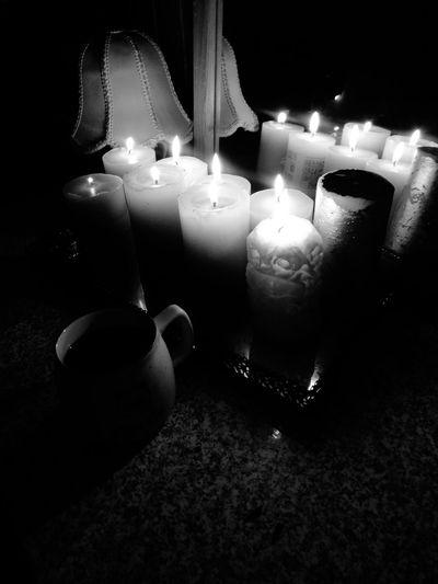 Illuminated Flame Table Celebration Candle Heat - Temperature Burning Close-up
