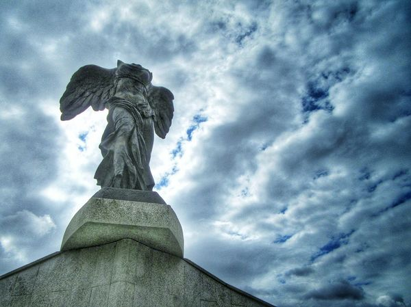 Winged Victory of Samothrace, walking outside the Louvre Art Cloud Cloud - Sky Cloudy Creativity Day Low Angle View Lumicar Marble Monument Nature No People Outdoors Overcast Sculpture Sky Statue Tourism Travel Destinations Victory Of Samothrace Weather
