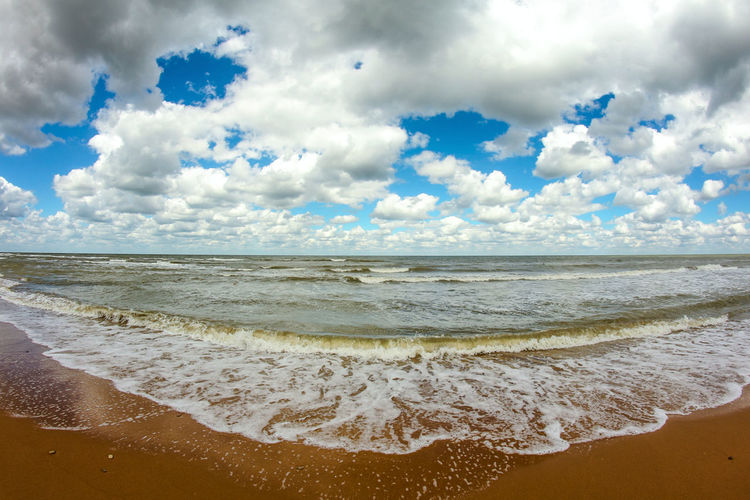 After The Storm Azovsea Beach Beauty In Nature Cloud - Sky Clouds Horizon Over Water Low Clouds Nature Rest Sand Sea Sky Water Wave Waves Russian Nature Russia