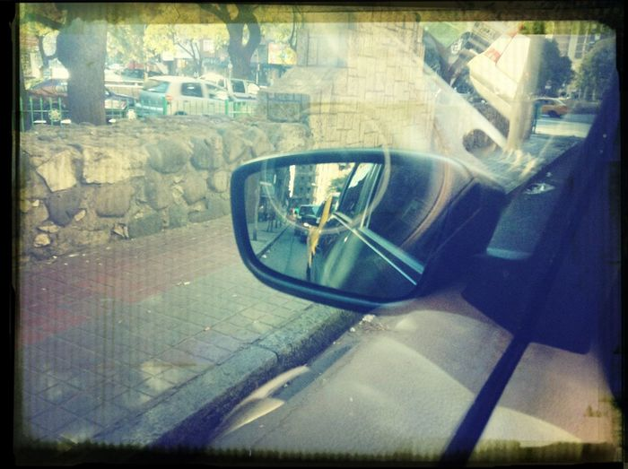 Don't Look Back In Anger Driving Home Relaxing Mirror Taking Photos