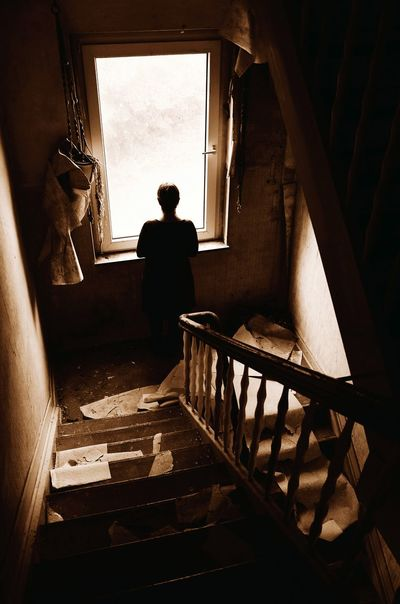 Lostplaces Lost Places One Person Sephia Photo Old House Stairs Abandoned Places Abandoned Buildings Abandoned Staircase Verlassener Ort Home Interior Lonley Sadness Window Lost Einsam Allein Trauer EyeEm Ready