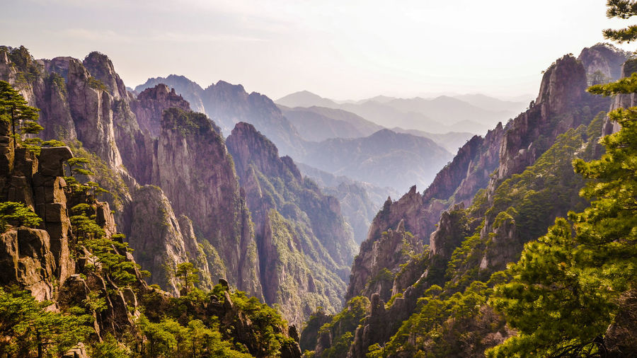 Yellow Mountain, China Anhui Beautiful Day Beautiful Nature Canyon China Enjoying Life Huangshan Landscape Mountain Mountain Range Nature Rocky Mountains Taking Photos Tranquil Scene Travel Travel Destinations Travel Photography Yellow Mountain The Great Outdoors - 2016 EyeEm Awards Nature's Diversities - 2016 EyeEm Awards