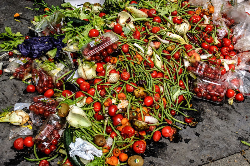 Vegetable waste. Abundance Close-up Discarded Food Large Group Of Objects Market No People Organic Red Still Life Trash Vegetables Waste Wasted