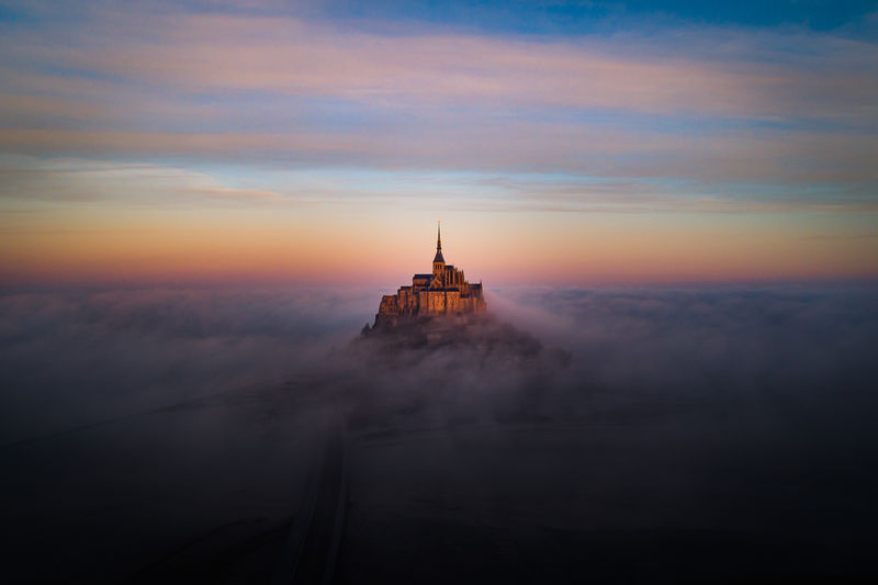 One morning in the mont-saint-michel