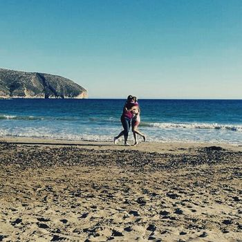 Wearefamily Mother Daughter Beachday Winter Authentic Moments Enjoying Life