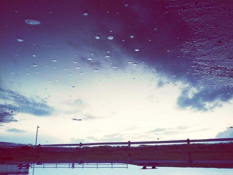 Sunset Sky UFO Normandy Flying Saucer