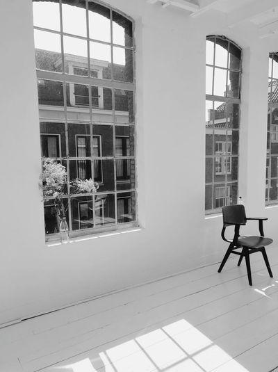 Window in office building