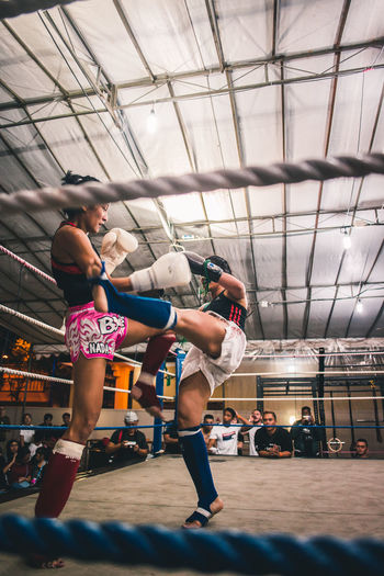 Never too late to fight back. International Women's Day 2019 Real People People Lifestyles Sport Vitality Healthy Lifestyle Strength Exercising Athlete Skill  Effort Women Young Women Sportswoman Muay Thai Kickboxing Kicking Fitness Vitality Analogue Sound