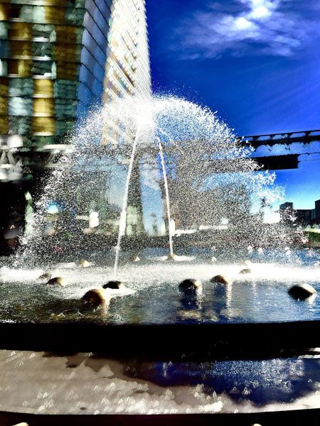 EyeEmNewHere Water Motion Splashing Fountain Spraying No People Blurred Motion Nature Built Structure Close-up Outdoors Day Sky Architecture EyeEmNewHere