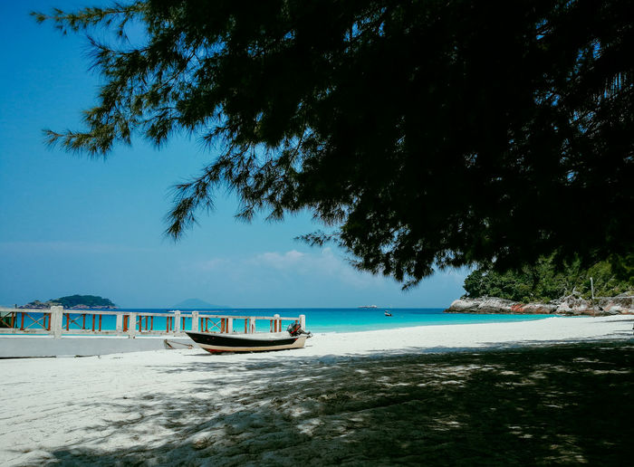 Pulau Redang, Terengganu, Malaysia. Water Nautical Vessel Sky Sea Mode Of Transportation Transportation Tree Nature Beauty In Nature Beach Land Plant Day Scenics - Nature No People Tranquility Tranquil Scene Sand Outdoors Passenger Craft