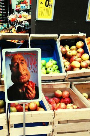 Mangez des pommes ! Pommes Chirac Jacqueschirac Mangezdespommes Les Guignols Guignol Humour Supermarché Supermarket Palettes Palets Colour Of Life Huawei Ascend G6