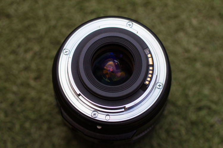 Camera Camera - Photographic Equipment Circle Close-up Digital Camera Focus On Foreground Geometric Shape Glass - Material High Angle View Lens - Eye Lens - Optical Instrument Modern No People Optical Instrument Photographic Equipment Photography Themes Reflection Shape Single Object SLR Camera Technology