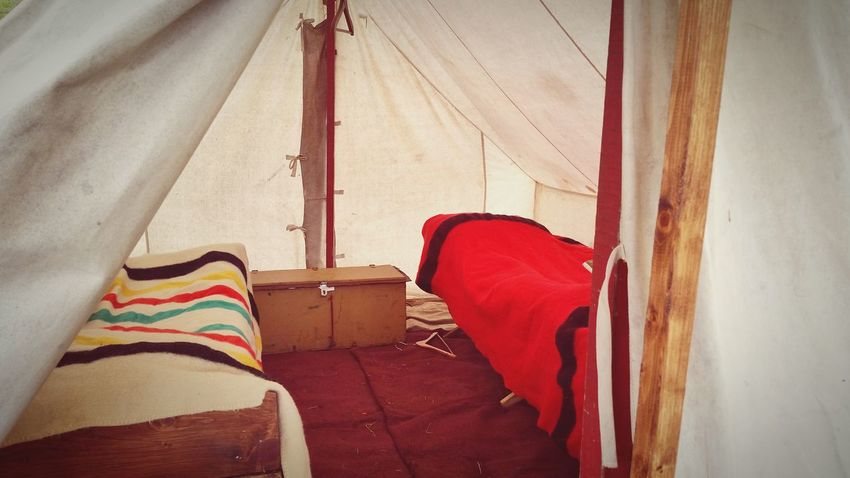 Inside a tent at Seven Year's War re-enactment Red Day No People Indoors  Low Section Tent Inside Tent Cot Sleeping Quarters Vintage Military The EyeEm Collection The Premium Collection Focus On The Story