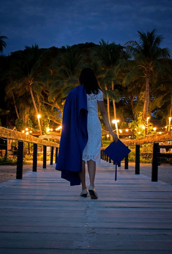 and there she went with all her powers Fiji Fijian Fiji Islands Degree Education Educational Convocation Night Christmas Christmas Decoration Christmas Tree Illuminated Winter Christmas Lights Celebration Vacations Tree Adult One Person People Full Length Inner Power
