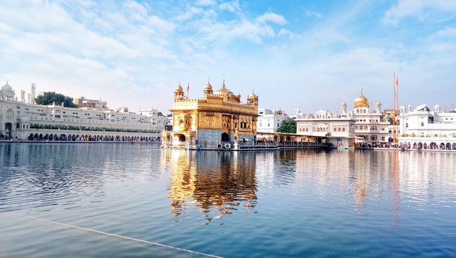 Most important pilgrimage site of sikhism housing golden temple