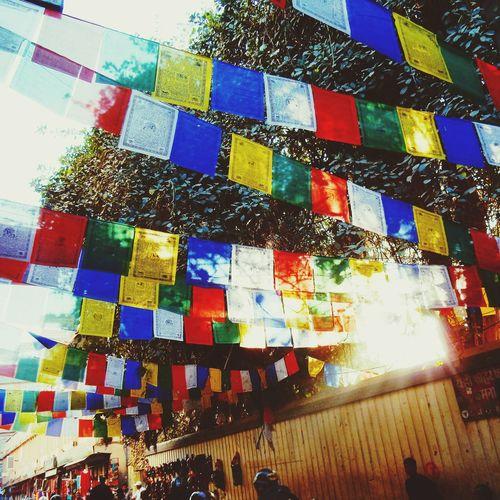 flags Street Traveling Travels Wanderlust Outside Nepal Kathmandu Thamel Earthwindfirewater