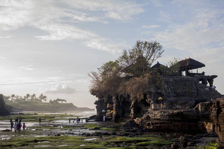 Morning at Tanah Lot Bali Cloud Hindu INDONESIA Landscape Monks Nature Ocean Outdoors Rock Tanah Lot Temple Tourism Travel Voyage Wanderlust Water Temple