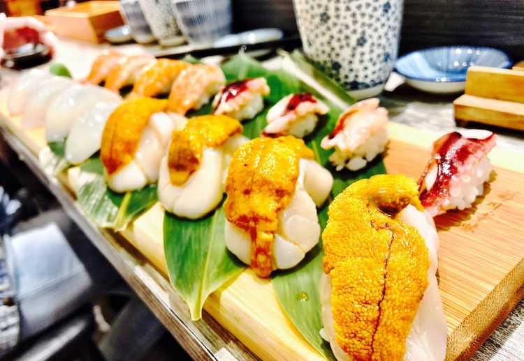 Yummy Japanese Food Food And Drink Food Freshness Healthy Eating Ready-to-eat Wellbeing Plate No People Asian Food Seafood Japanese Food Rice Sushi Serving Size Table