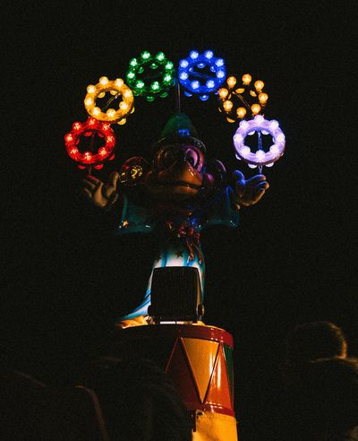 Worship at the alter of false prophets Multi Colored No People Illuminated Statue Night Outdoors