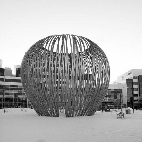 The big apple Bigapple Hospital Amazing Design Art Architecture Love Snow Inlove Photography Blackandwhite Montréal Beautiful Snow Winter Travel Muhc Cusm