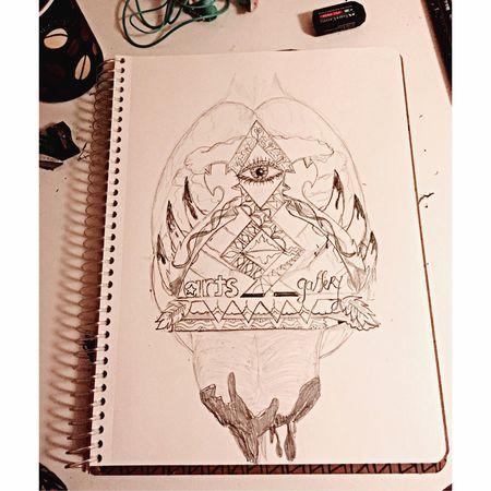 Sketchbook Black & White Artist Design Artline ArtLife Drawing