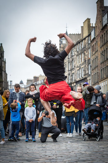 Leap #urbanana: The Urban Playground Canon5Dmk3 Dance Edinburgh Edinburgh Fringe EyeEmNewHere Fun People Watching Scotland Action Activity Adult Canon Canonphotography City Crowd Culture Festival Group Of People Leisure Activity Lifestyles People Real People Togetherness Urban