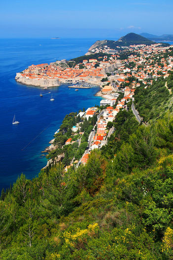 Scenic View Of Cityscape By Adriatic Sea