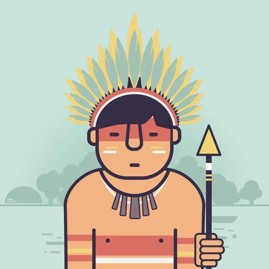 Native Brazilian, indian icon. Amazon Anthropology Aboriginal Aborigine  Amazon Amazonas-Brasil Amazonia Brazil Civilization Culture Forest Hunting Icon Illustration Indian Indios Native Nature Outdoors Primitive Ritual Traditional Tribe Xingu