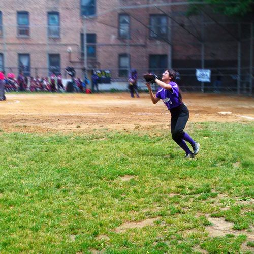 At my cousins game! Congrats on winning the chip! Softball Championship Game Won Congrats