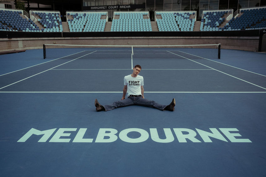 Adult Adults Only Athlete Blue Day Full Length Men One Man Only One Person Only Men Outdoors People Portrait Portrait Photography Portraits Real People Sitting Sport Sports Clothing Sportsman Stadium Tennis The Portraitist - 2017 EyeEm Awards Young Adult