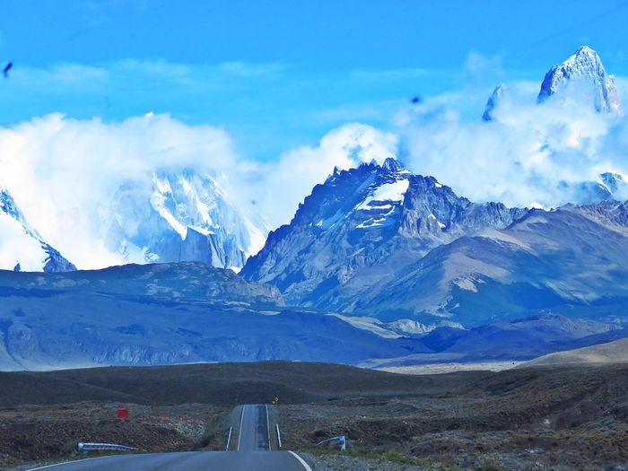 Road to El Chaltén Mountain Mountain Range Cloud - Sky Nature Sky Scenics Snow No People Outdoors Day Snowcapped Mountain Beauty In Nature Blue EyeEmNewHere Argentina Patagonia El Chalten Fitzroy Fitz Roy Nature Photography Natural Beauty Landscape Road Nature Roadtrippin' Lost In The Landscape