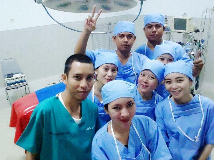WE ARE TOP TEAM. Instalasi Bedah Sentral room Nurse Getting Medicine Selfie ✌ Cheese!