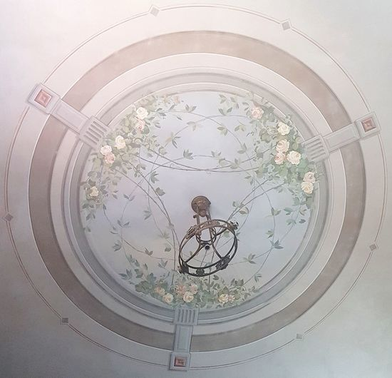 Circle Concentric Backgrounds Floreal Motif No PeopleDay Fresco Wall Decoration Wall Painting