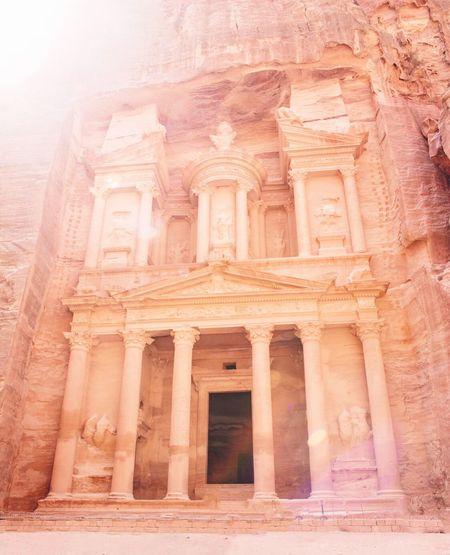 The Treasury, Petra, Jordan Ancient History Tourism Travel Travel Destinations Architecture Jordan Archaeology Petra Newworldwonder Beauty First Eyeem Photo