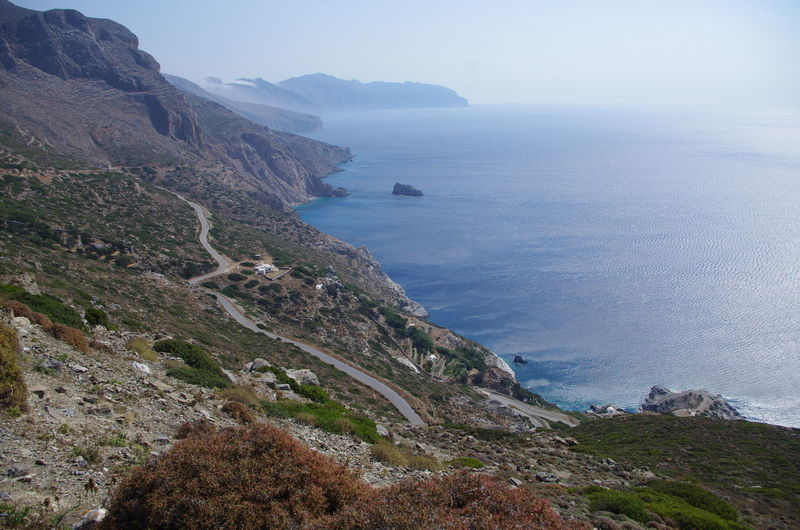 GREECE ♥♥ Griechenland Griechische Inseln Amorgos Amorgosisland Beauty In Nature Clear Sky Cliff Day Greece Horizon Over Water Mountain Nature No People Outdoors Scenery Scenics Sea Sky Tranquil Scene Tranquility Water