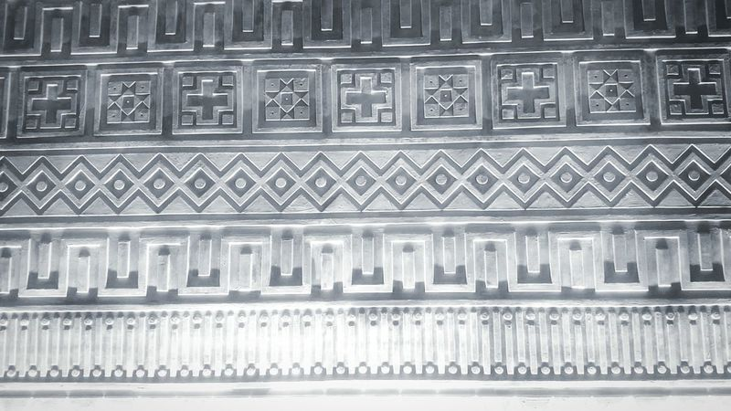 Wall painting.. Pattern Backgrounds Indoors  Close-up Design Design Interior Wall Painting Ethnic Cement Wall Brick Building No People Built Structure Full Frame ArtWork Culture Of Indonesia Culture Traditional Craft Peinture Beaux-Arts Design Tribe Ornaments TanaToraja Beautifulartwork Day Repetition