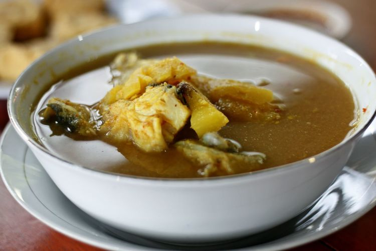 Belitong Belitong Food Belitong Travel Destination Belitung, Indonesia Bowl Close-up Day Fish Curry Fish Soup Food Food And Drink Freshness Gangan Fish Soup Healthy Eating Indoors  No People Ready-to-eat Serving Size Soup