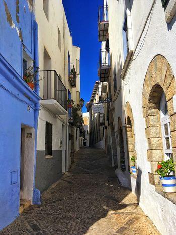 Sunny Sun Peñíscola Warm Holiday Blue Architecture House SPAIN Benicarlo Sky Clear Sky