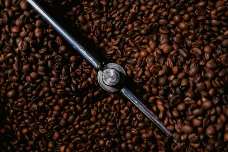 rotate Brown Close-up Coffee Bean Sweet Roasted Coffee Bean Coffee Crop Espresso Maker Black Coffee Raw Coffee Bean Ground Coffee Textured  Full Frame