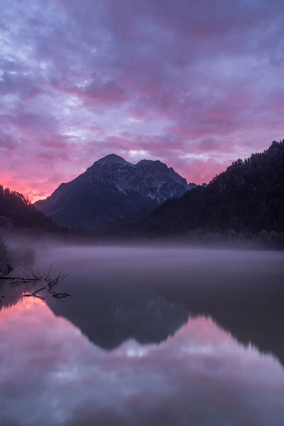 Austria Beauty In Nature Cloud - Sky Day Gesäuse Idyllic Lake Mountain Mountain Range Nature No People Outdoors Reflection Scenics Sky Styria Sunset Tranquil Scene Tranquility Water Waterfront